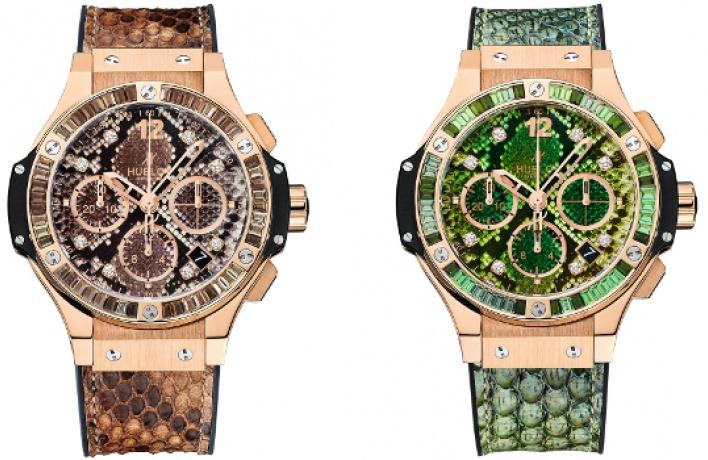 Новые часы Hublot вышли взмеиной коже