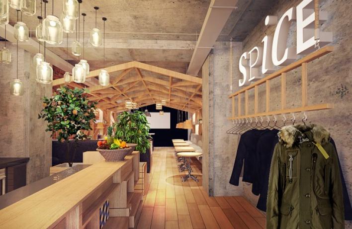 Кафе Spice: «Тоесть воформлении зала ресторана будут использованы детали, создающие впечатление, что гости находятся как бывтеплице»