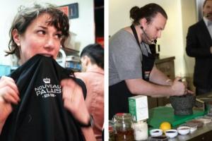 "Гита Ситон, ресторан Nouveau Palais (Канада, Монреаль), и Иван Шишкин, уличный вагончик ""Дары природы"""