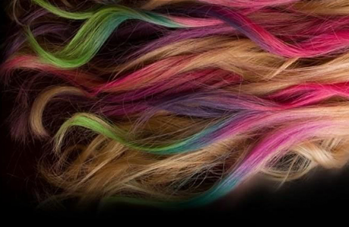 Окрашивание волос потехнологии Dip Dye