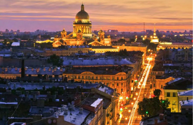 """Ян Богомолов """"Петербург. Вид с крыши"""""""