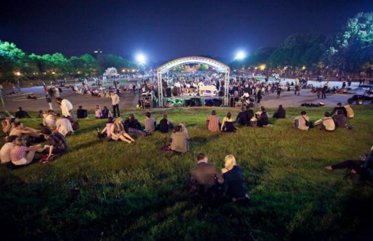 Ночь в Парке Горького