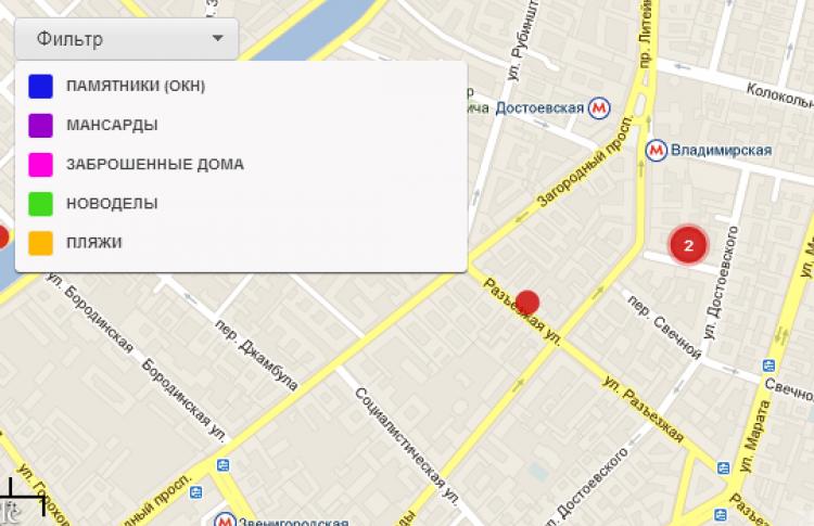 Заработал пользовательский интернет-каталог исторических зданий Петербурга