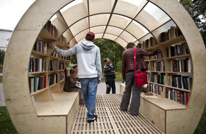 Впарках появляются книжные магазины