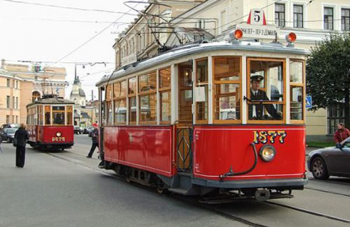 Вночь ссубботы навоскресенье можно будет прокатиться наретро-трамвае