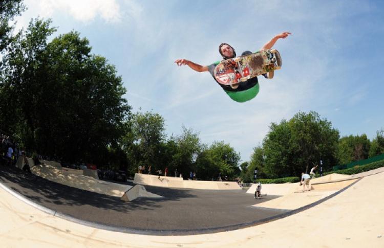 Выступление профессиональных скейтбордистов из Европы