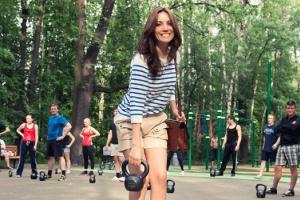 Фитнес-программа Reebok впарках Москвы