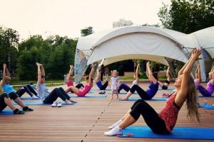 Открытые занятия фитнесом