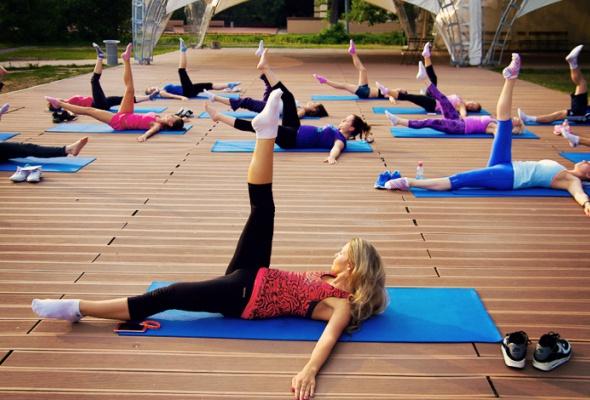 Открытые занятия фитнесом - Фото №1
