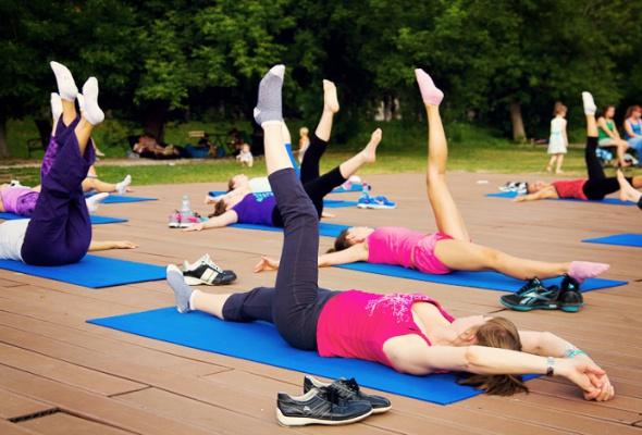 Открытые занятия фитнесом - Фото №2