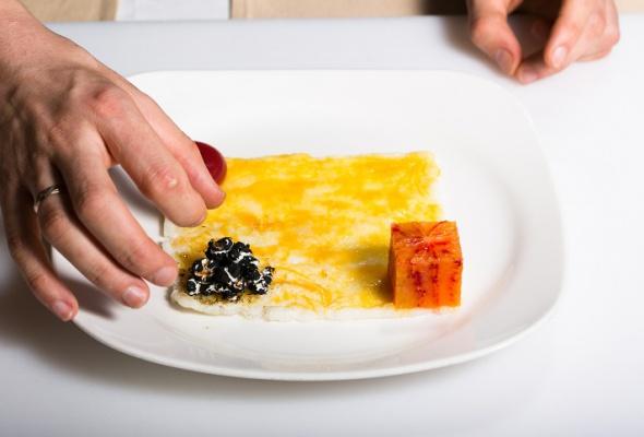 Севиче изчилийского сибаса скровавыми апельсинами имороженым изкаракатицы - Фото №18