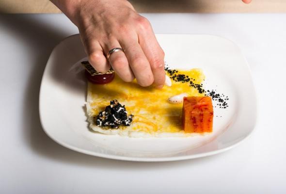 Севиче изчилийского сибаса скровавыми апельсинами имороженым изкаракатицы - Фото №19