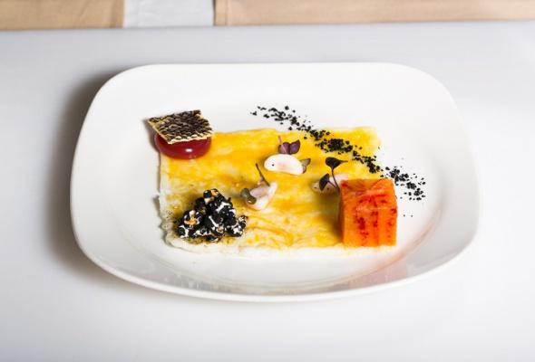 Севиче изчилийского сибаса скровавыми апельсинами имороженым изкаракатицы - Фото №20