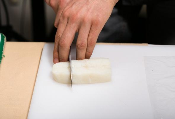 Севиче изчилийского сибаса скровавыми апельсинами имороженым изкаракатицы - Фото №1