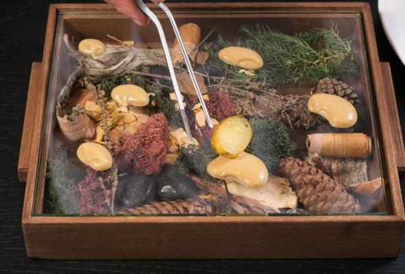 Говяжья вырезка скартофелем, грибами ивареньем изшишек - Фото №17