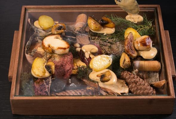 Говяжья вырезка скартофелем, грибами ивареньем изшишек - Фото №18