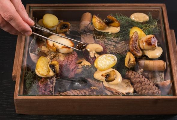 Говяжья вырезка скартофелем, грибами ивареньем изшишек - Фото №19
