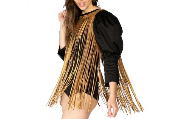 Тренд: летняя одежда изкожи - Фото №7