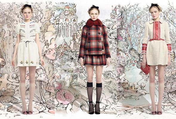 Лукбук осенне-зимней коллекции Red Valentino - Фото №1