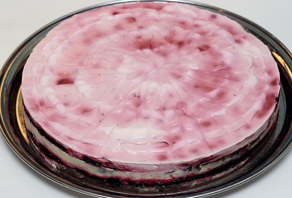 Чернично-сметанный торт - Фото №0
