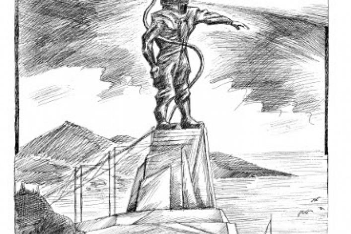 Леонид Тишков «Водолаз-маяк»