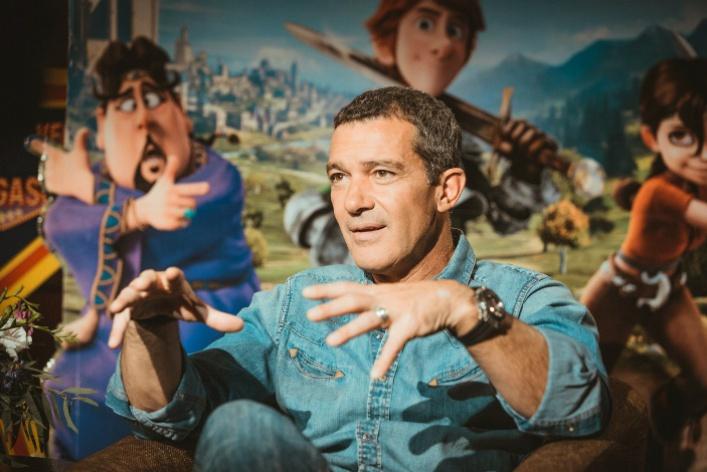 Премьеру мультфильма «Джастин ирыцари доблести» посетил голливудский актер Антонио Бандерас