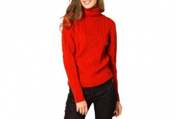 25теплых свитеров для девушек - Фото №13