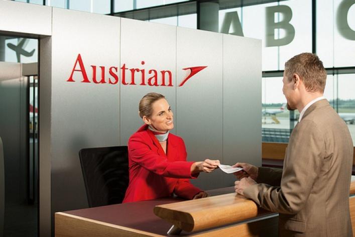 Прямые итранзитные перелеты сAustrian Airlines