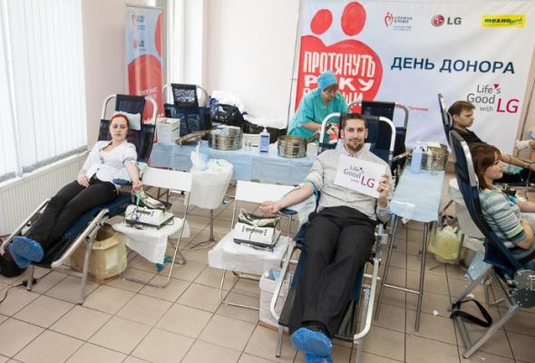 LGElectronics и«Техношок» провели первый совместный корпоративный День донора вСанкт-Петербурге - Фото №3