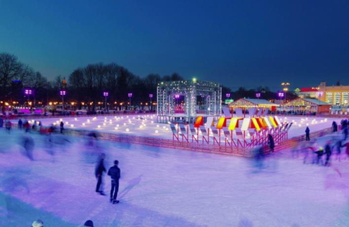 Каток Парка Горького украсят тысячи светодиодов