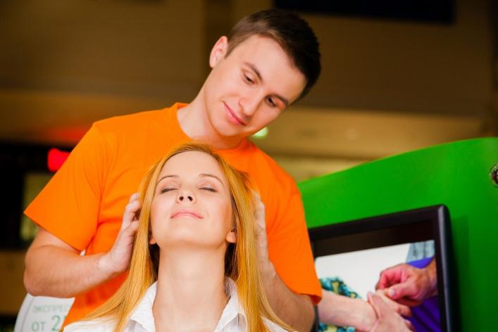 Новая сеть салонов сэкспресс-массажем вторговых центрах