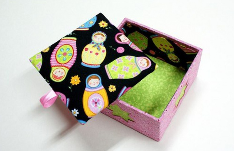 Картонаж: коробочки со съемной крышкой