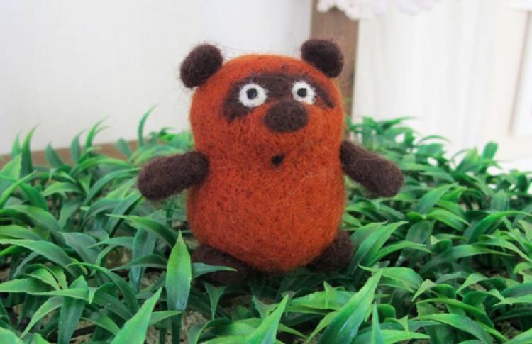 Сухое валяние: игрушка-миниатюра