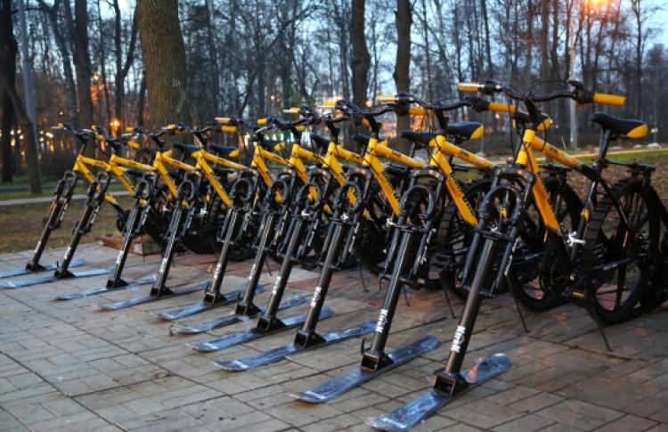 В«Сокольниках» появились зимние велосипеды