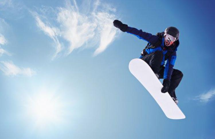 Сноубордический парк с горкой для джиббинга
