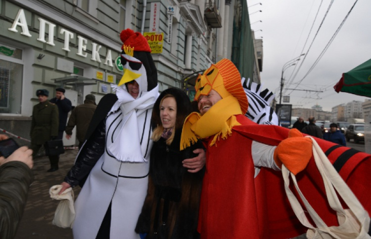 Встреча Деда Мороза в Московском зоопарке