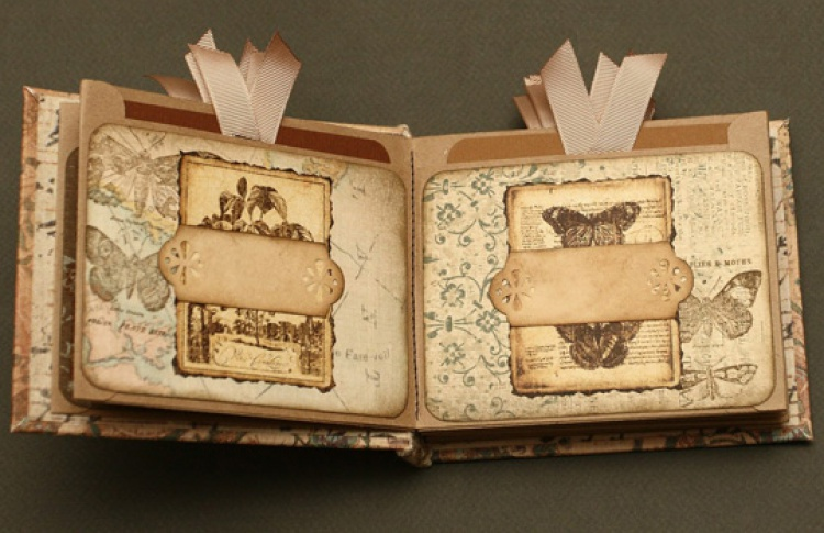 Скрапбукинг: мини-альбом с кармашками