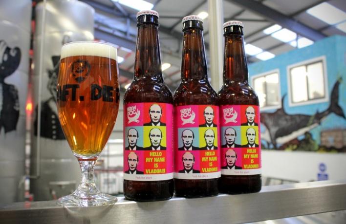 Шотландцы изBrew Dog сварили новый сорт крафтового пива «Hello MyName IsVladimir»