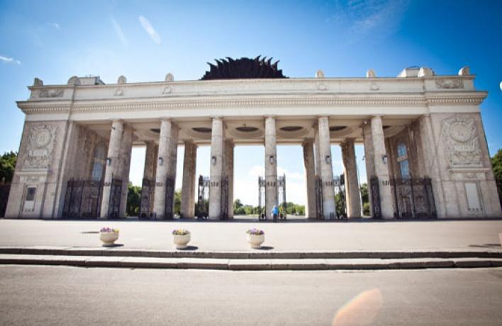Главный вход в Парк Горького закрыли на реконструкцию