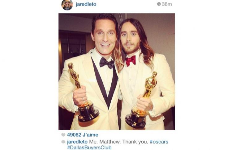 «Оскар-2014»: главные инстаграмы Фото №428492