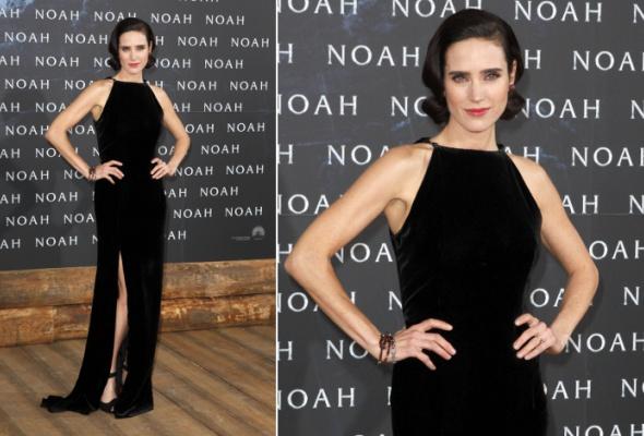 Звездный тренд: черное платье в пол - Фото №1