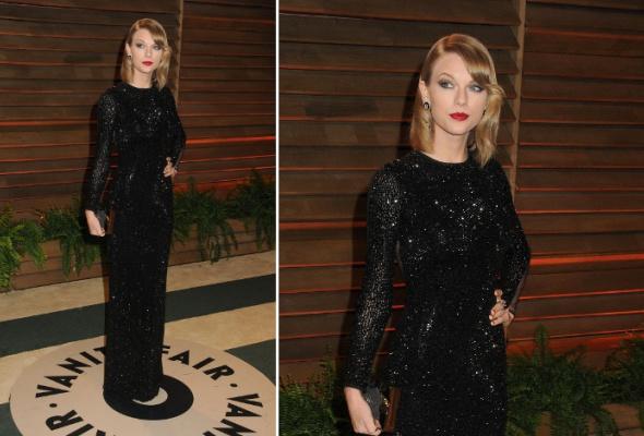 Звездный тренд: черное платье в пол - Фото №8