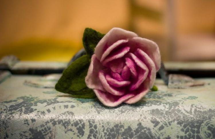 Цветок на каркасе