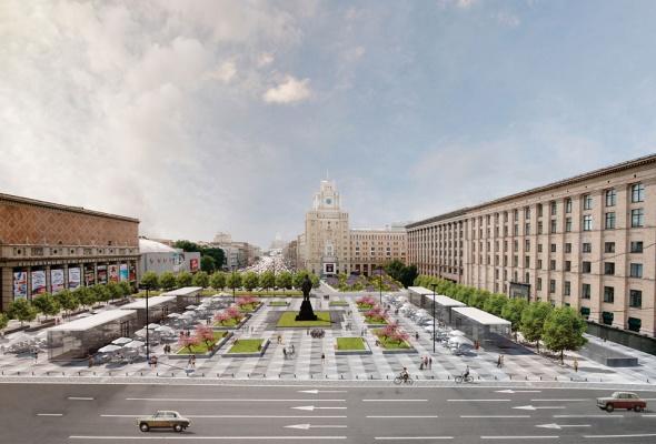 вокМосквичи могут сами выбрать вариант благоустройства Триумфальной площади  - Фото №1