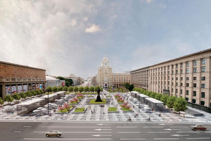 Москвичи могут сами выбрать вариант благоустройства Триумфальной площади