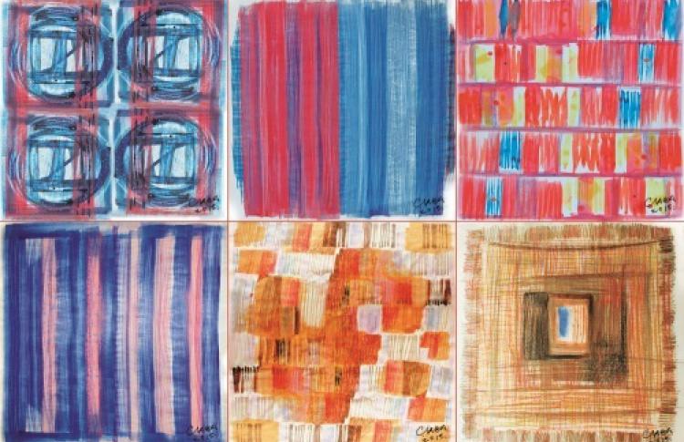 Платки и картины
