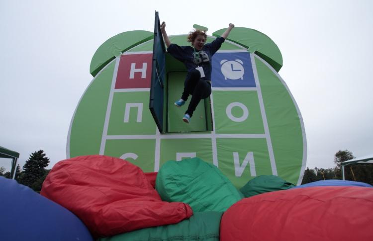 На смотровой площадке Воробьевых гор проходит молодежный фестиваль «Не проспи!»