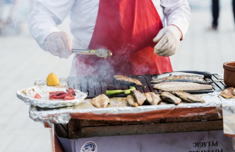Городской маркет еды