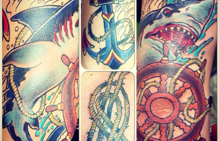 Funky guru tattoo