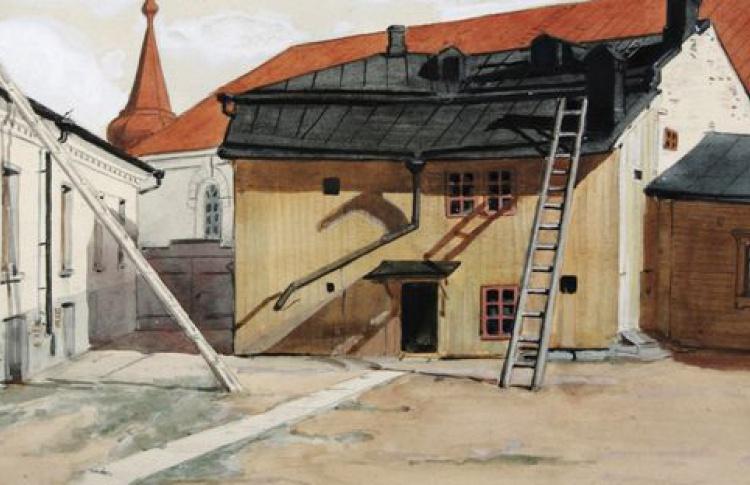 Виды Выборга и парка Монрепо в рисунках и акварелях Виктора Святихина